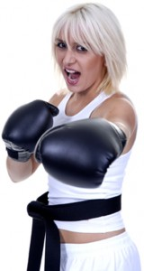 ladies kickboxing at mmax