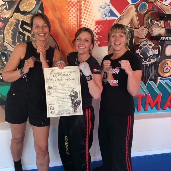ladies kickboxing at MMAX academy dorchester